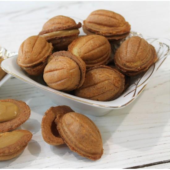 Вафельные орешки с вареной сгущенкой